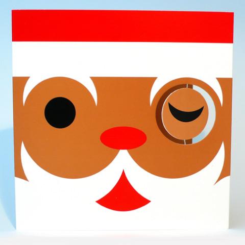 Winking Santa