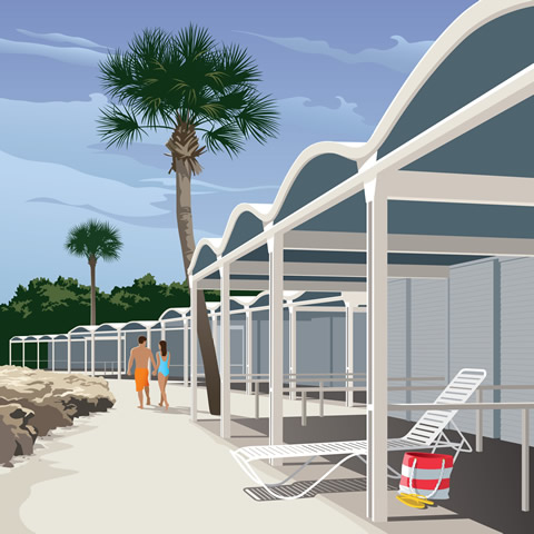 Sanderling Club Beach Cabanas
